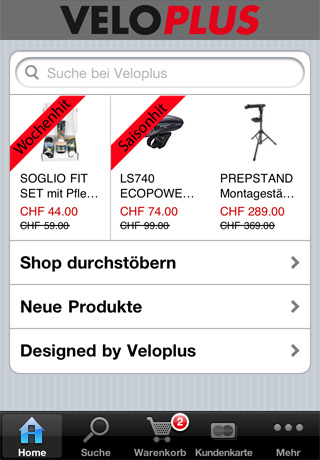 iphone app die welt von veloplus im hosentaschenformat. Black Bedroom Furniture Sets. Home Design Ideas
