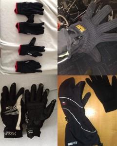 Kleine Auswahl der Handschuh-Ausrüstung aus unserer Facebook-Community.