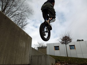 Einrad Sprung