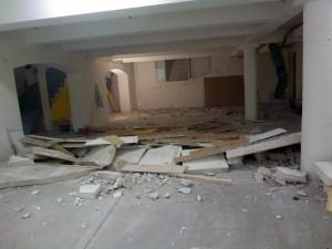 Die Betonmauer war einmal. Jetzt kann die Umgestaltung und Einrichtung beginnen.