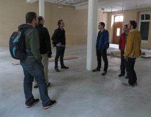 Unsere Produktmanager bei der ersten Besichtigung.