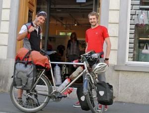Maurizo überraschte Manuel und das restliche Veloplus-Team in Zürich.