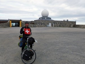 Christoph Amstad reiste mit dem Velo ans Nordkap.