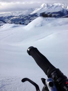 Das Flowgrip-Muster im Schneetest. :-)