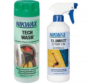 Unsere Pflegeempfehlung: Tech Wash und TX-Direct von NIKWAX.