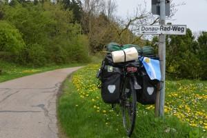 Auf dem Donauradweg durch Deutschland.