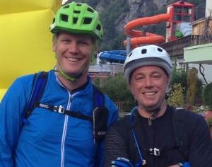 Frederic Schädeli (links)  und Martin Foerster a.k.a. Team Veloplus Flow.