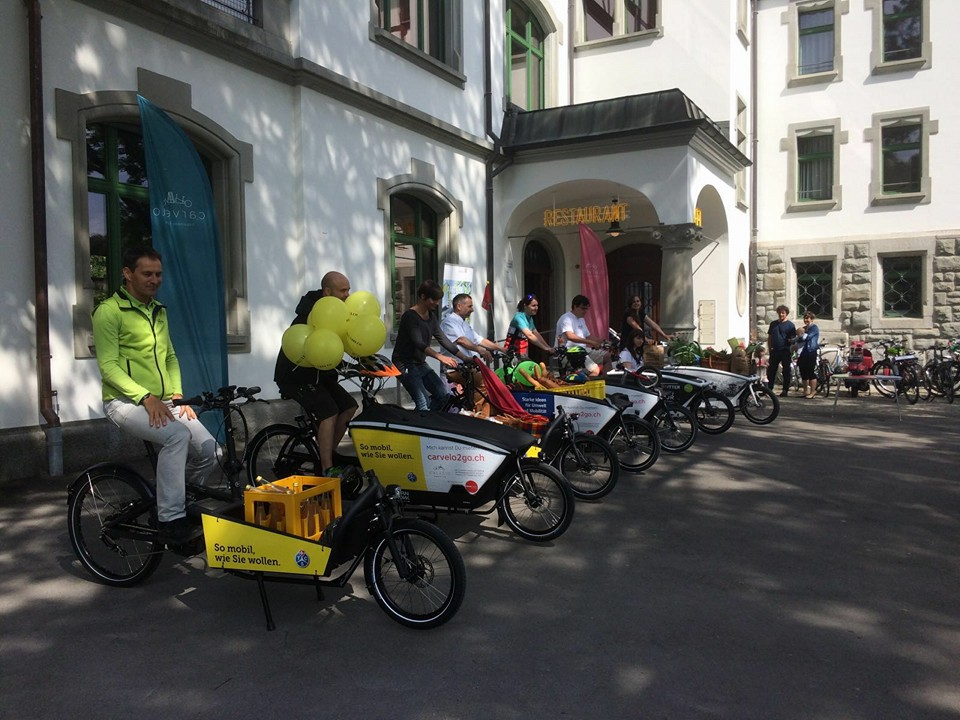 eCargo-Bikes in St. Gallen