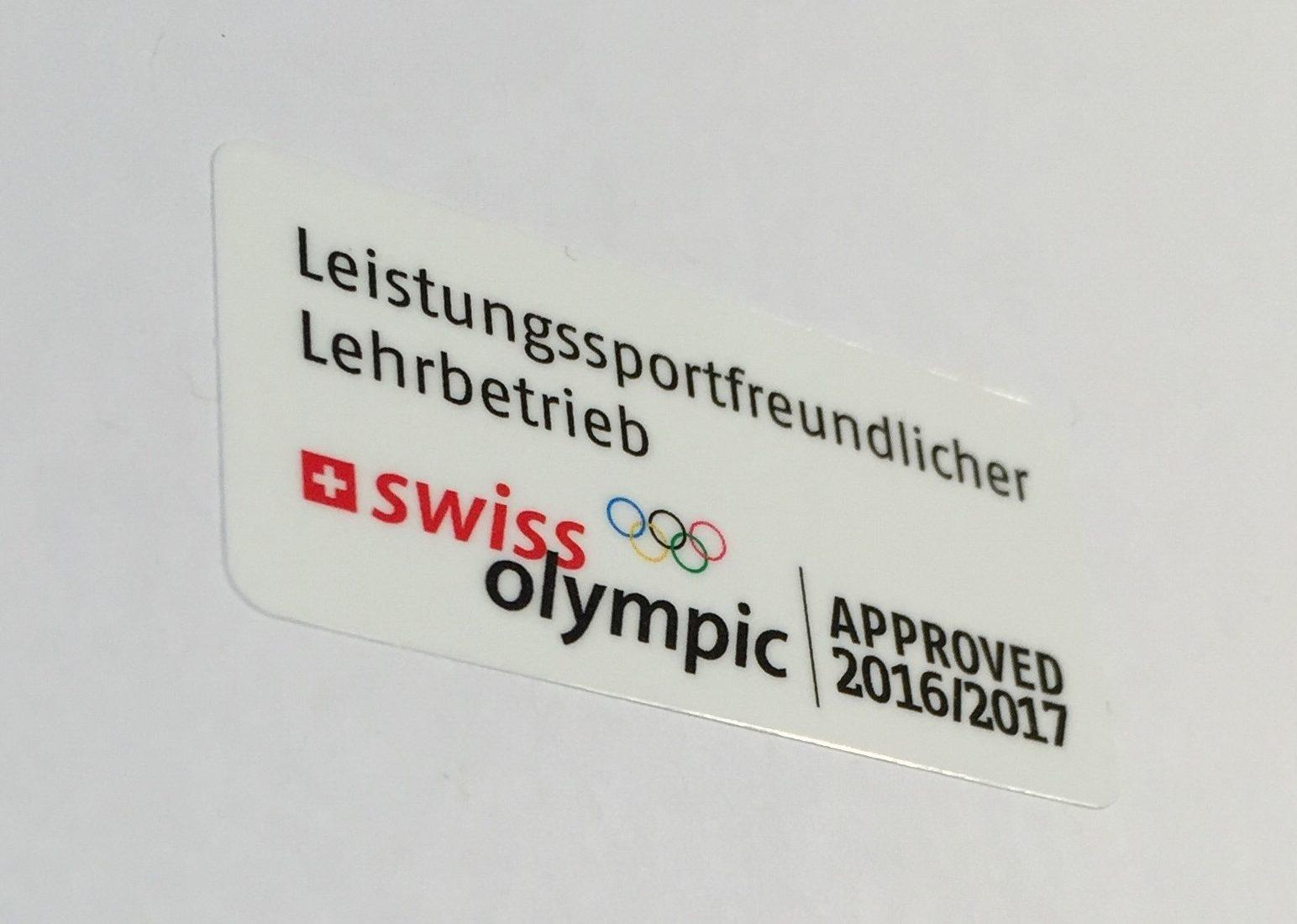 Auszeichnung Swiss Olympic