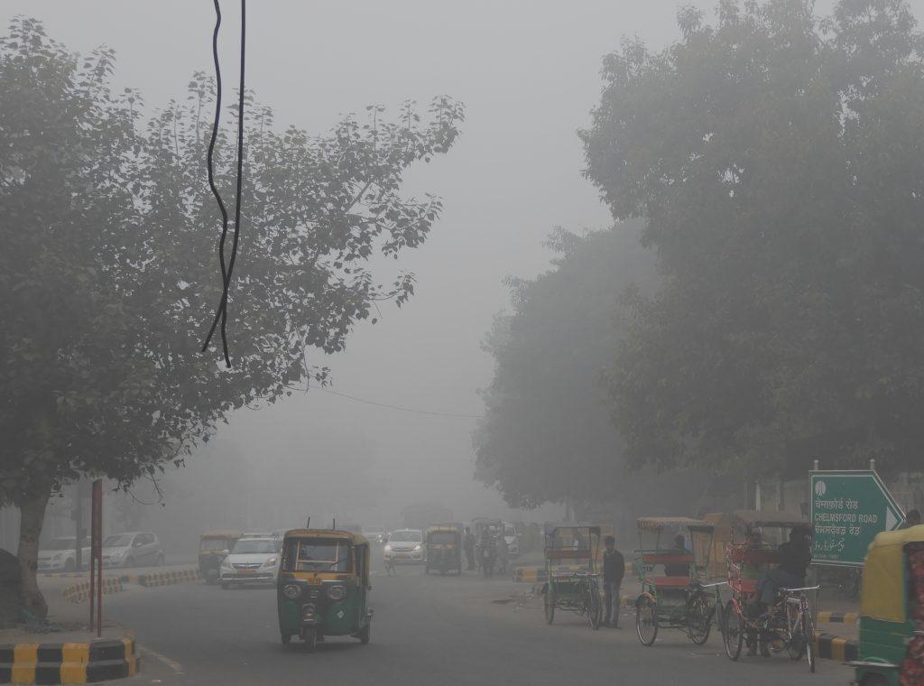 Neu Delhi im Smog